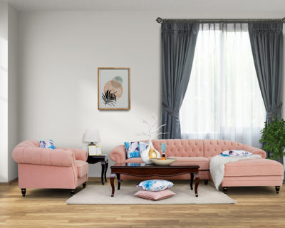 Pearl Chaise Sofa with Arm Chair