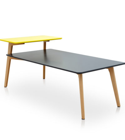 AD-6818 CENTRE TABLE ONLY COL BLK/YELLOW