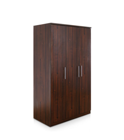 RNS 3 DOOR WARDROBE ONLY COL WALNUT