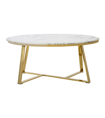 Bernard Coffee Table Gold/white