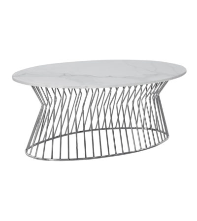 Cage Coffee Table Steel/white