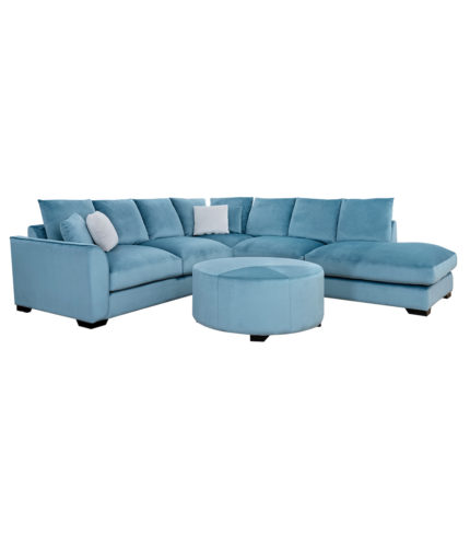 Long Beach Corner Sofa with Ottoman